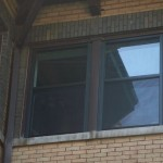 Windows with low-e aluminum storms installed