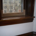 The same sash, re-installed after repair.