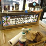 New leaded glass house number panels are a great way to dress up the entrance on classic Chicago homes and buildings.