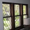 14 Leaded glass panels were rebuilt