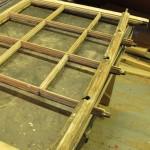 Sash disassembled for repair