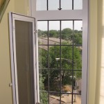 The screen opens to allow access to open and close the casement window