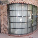 We designed and installed a thick, solid piece of protective glass