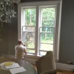 Working on the original wood windows